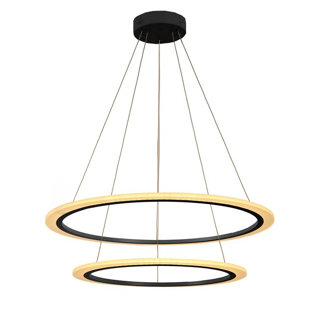 W33867GB32 Cyclone 63-Watt Graphite Black Finish Integrated LED Pendant Light 3000K 32 in. D x 96 in. H Large