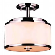 W33951C12 Madeline 5 Light LED Flush Mount Ceiling Light with Bisque Drum Shade - Discontinued