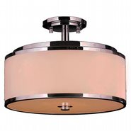 W33951C16 Madeline 6 Light LED Flush Mount Ceiling Light with Bisque Drum Shade - Discontinued
