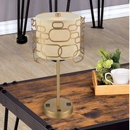 w53440mg12 Montauk 1 Light Matte Gold Finish Table Lamp