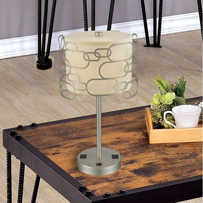 w53440mn12 Montauk 1 Light Matte Nickel Finish Table Lamp
