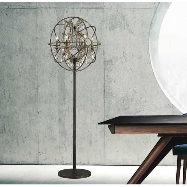 w63190ab24-gt Armillary 6 Light Antique Bronze Floor Lamp