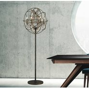 Armillary 6 Light Antique Bronze Floor Lamp