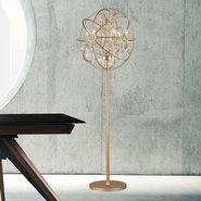 w63190mg24-cl Armillary 6 Light Matte Gold Floor Lamp