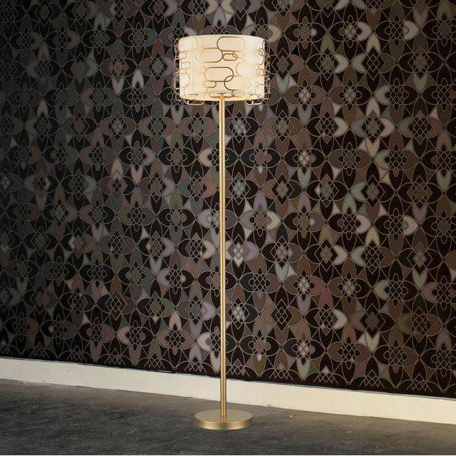 w63440mg20 Montauk 1 Light Matte Gold Finish Floor Lamp