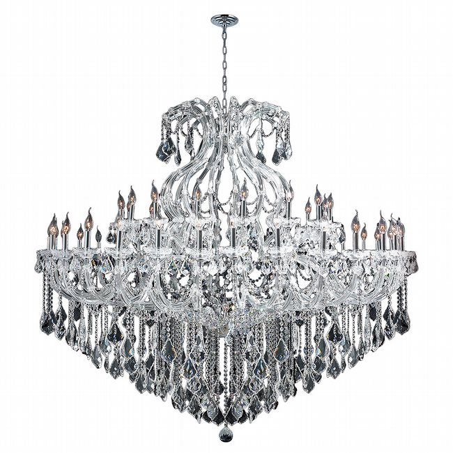 W83001C72 Maria Theresa 49 Light Chrome Finish and Clear Crystal Chandelier Two 2 Tier
