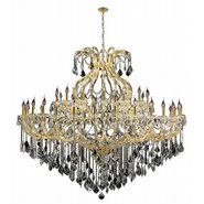 Maria Theresa Collection 49 Light Gold Finish and Clear Crystal Chandelier Two 2 Tier