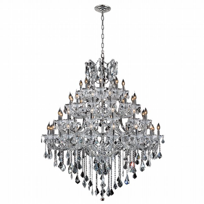 Chandeliers w83002c46 maria theresa 49 light chrome finish with double cut crystal chandelier aloadofball Image collections