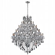 W83002C46 Maria Theresa 49 light Chrome Finish with Double Cut Crystal Chandelier