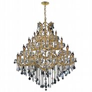Maria Theresa Collection 49 Light Gold Finish and Clear Crystal Chandelier Four 4 Tier