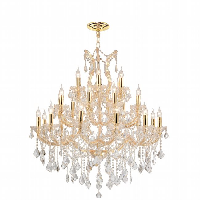Maria theresa 28 light gold finish and clear crystal chandelier w83003g38 maria theresa 28 light gold finish and clear crystal chandelier three 3 tier mozeypictures Images