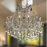 Maria Theresa Collection 19 Light Chrome Finish and Clear Crystal Chandelier Two 2 Tier