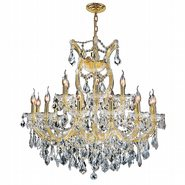 Maria Theresa Collection 19 Light Gold Finish and Clear Crystal Chandelier Two 2 Tier