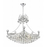 Empire Collection 6 Light Chrome Finish and Clear Crystal Chandelier