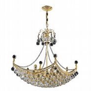 Empire 8 light Gold Finish with Clear Crystal Chandelier