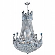 W83026C24 Empire 18 Light Chrome Finish and Clear Crystal Chandelier