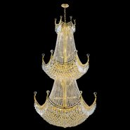 Empire Collection 36 Light Gold Finish and Clear Crystal Chandelier Two 2 Tier