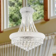 W83030C20 Empire 14 light Chrome Finish with Clear Crystal Chandelier