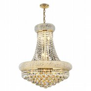 W83030G20 Empire 14 Light Gold Finish and Clear Crystal Chandelier