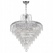 Empire Collection 7 Light Chrome Finish and Clear Crystal Chandelier