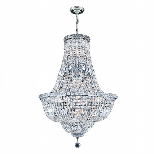 W83032C22 Empire 15 light Chrome Finish with Clear Crystal Chandelier