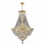Empire 22 light Gold Finish with Clear Crystal Chandelier