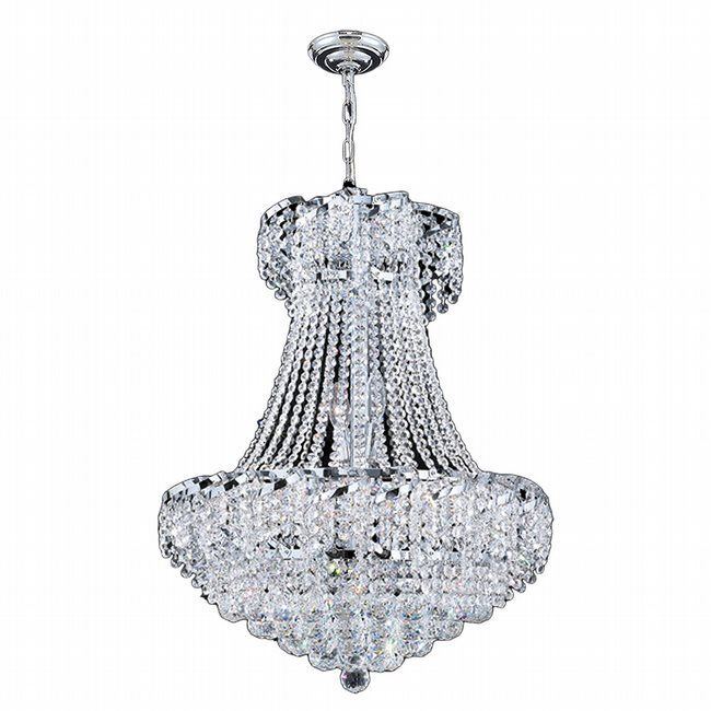 W83034C22 Empire 11 light Chrome Finish with Clear Crystal Chandelier