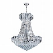 W83034C26 Empire 15 Light Chrome Finish and Clear Crystal Chandelier
