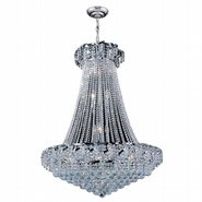 W83034C30 Empire 18 Light Chrome Finish and Clear Crystal Chandelier