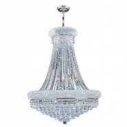 W83035C28 Empire 14 Light Chrome Finish with Clear Crystal Chandelier