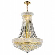 W83035G24 Empire 14 Light Gold Finish and Clear Crystal Chandelier