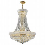 W83035G28 Empire 14 Light Gold Finish and Clear Crystal Chandelier