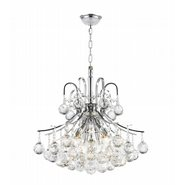Empire 6 light Chrome Finish with Clear Crystal Chandelier