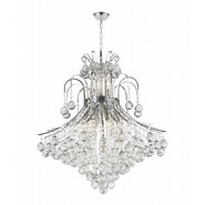 Empire Collection 15 Light Chrome Finish and Clear Crystal Chandelier