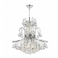 Empire 9 light Chrome Finish with Clear Crystal Chandelier
