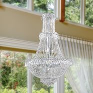 W83047C30 Empire 17 light Chrome Finish with Clear Crystal Chandelier