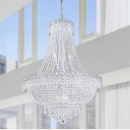 W83048C24 Empire 12 light Chrome Finish with Clear Crystal Chandelier