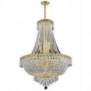 W83048G24 Empire 12 light Gold Finish with Clear Crystal Chandelier