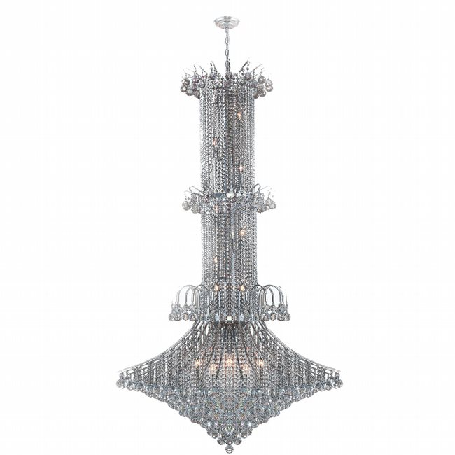 W83050C44 Empire 20 light Chrome Finish with Clear Crystal Chandelier