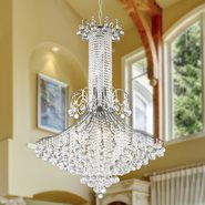 W83051C35 Empire 16 Light Chrome Finish and Clear Crystal Chandelier
