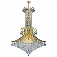 W83051G35 Empire 16 Light Gold Finish and Clear Crystal Chandelier