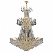 Empire Collection 18 Light Gold Finish and Clear Crystal Chandelier