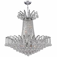 Empire Collection 8 Light Chrome Finish and Clear Crystal Chandelier