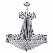 Empire Collection 11 Light Chrome Finish and Clear Crystal Chandelier