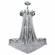 Empire Collection 16 Light Chrome Finish and Clear Crystal Chandelier