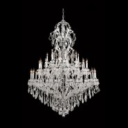W83067C52 Maria Theresa 48 light Chrome Finish with Clear Crystal Chandelier