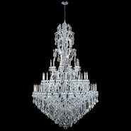 W83067C65 Maria Theresa 60 light Chrome Finish with Clear Crystal Chandelier