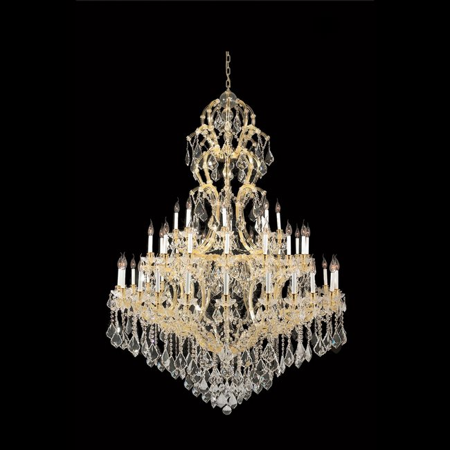 W83067G52 Maria Theresa 48 light Gold Finish with Clear Crystal Chandelier