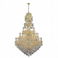 Maria Theresa 60 light Gold Finish with Clear Crystal Chandelier
