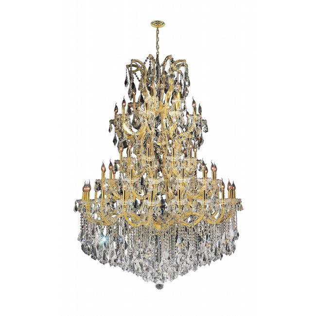 W83068G54 Maria Theresa 61 light Gold Finish with Double Cut Crystal Chandelier